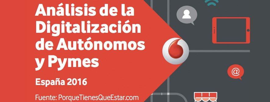 Estudio Vodafone – Nivel de digitalización de PYMES y autónomos en España en 2016