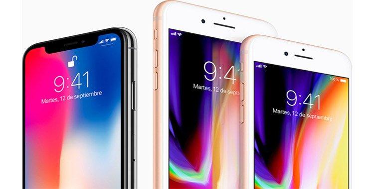 Características del iPhone X, iPhone 8 y iPhone 8 Plus