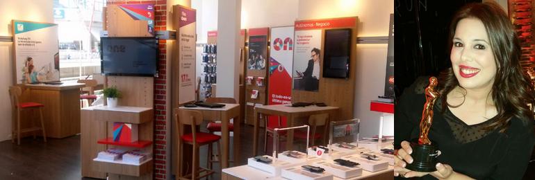 La tienda de Agentis-Sociphone en San Juan premiada en la gala Vodafone España